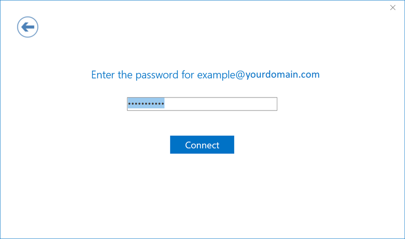 Screenshot of example of a page with password entered